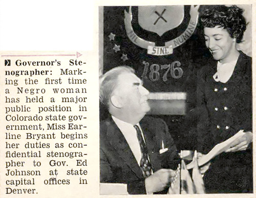 Governor's Stenographer - Jet Magazine, February 3, 1955 por vieilles_annonces.