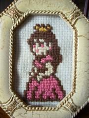 princess peach (katiekutthroat) Tags: crossstitch videogames etsy supermariobrothers
