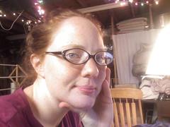 cameraphone me glasses redhead freckles nomakeup nosepiercing inmybasement wowivehadthatforalmost4yearstotheday imeaniwantedwireframes procrastinatingfromdoingsillynursingassignments iwantedwirelensesbutamtocheaptoshelloutforthinnerlenses
