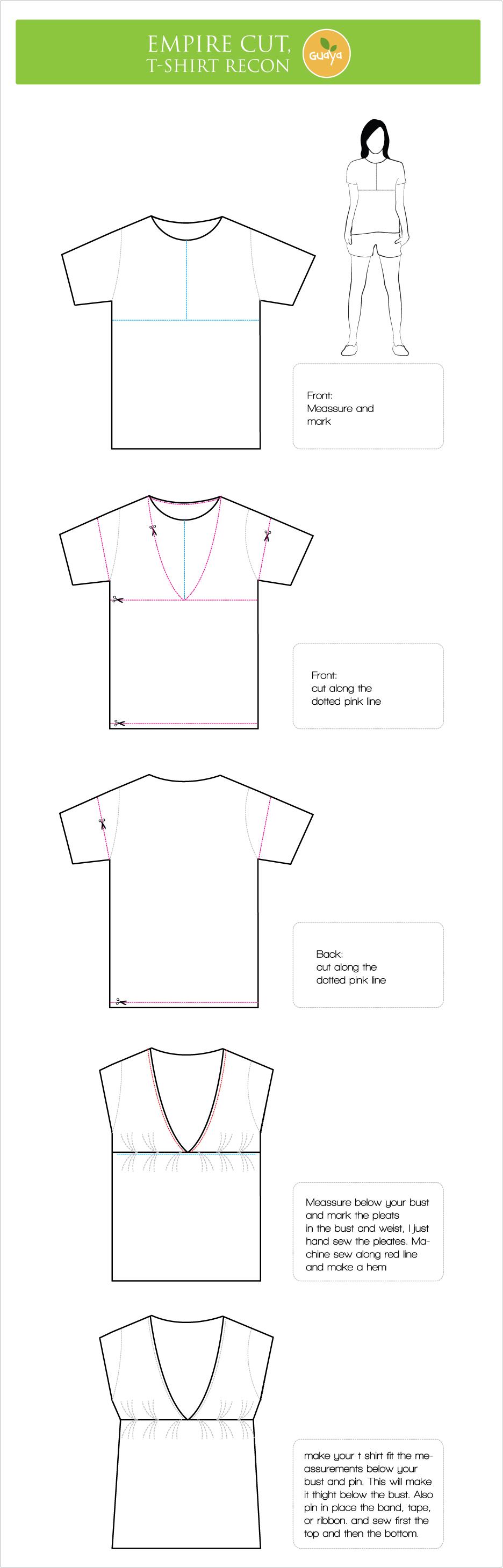 Выкройка стильных футболок