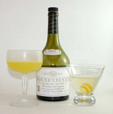 Genevieve Gin and the Amsterdam and Rembrandt Cocktails