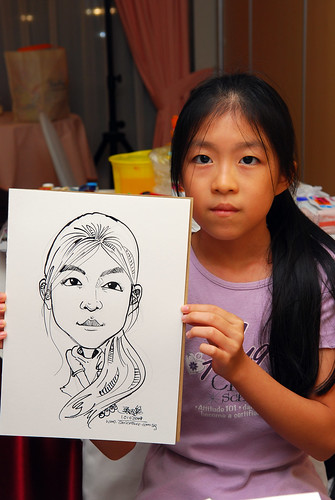 Caricature live sketching for birthday party 7