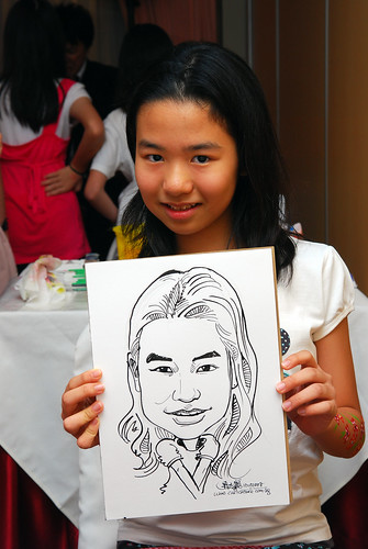 Caricature live sketching for birthday party 9
