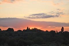 Tramonto sulla Villa Adriana (Spuma) Tags: tivoli tramonto nuvole cielo villaadriana collina rovine dintorniromamor