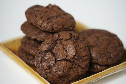 Dark-Chocolate Cookies with Espresso (Everyday Food recipe)