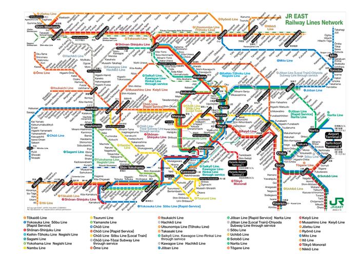 JR east railway map