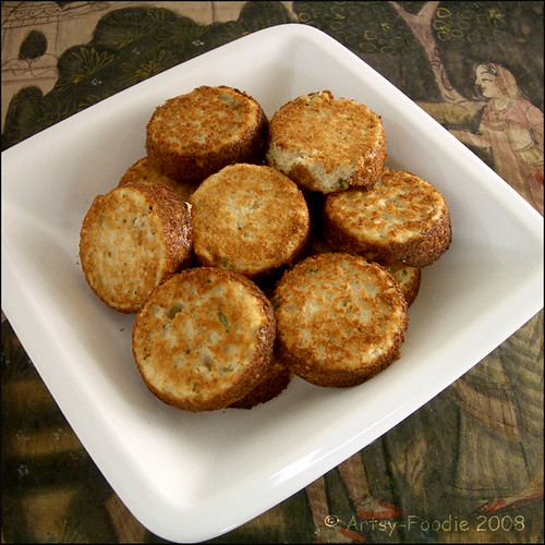 urad dal patties baked