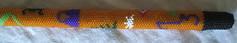 Beaded Totem Cane (satyridae) Tags: peyote beading beaded bao beadwork beadweaving peyotestitch beadwoven