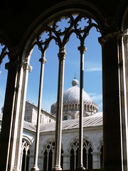 View from the tombs (Pedro Nuno Caetano) Tags: cemetery cathedral pisa duomo campodeimiracoli camposanto