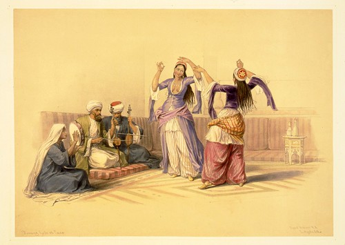 021-Jovenes danzando en el Cairo- David Roberts- 1846-1849