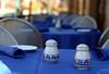 Pass the Salt, Please. (Jadydangel) Tags: blue white pepper restaurant bokeh salt tables dining alfresco hbw cmwdblue notexplored jadydangel