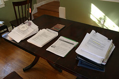 giant stack of resumes