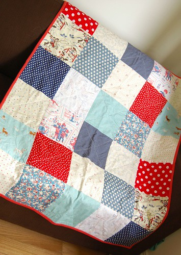 red cot quilt open