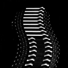 Sliding balconies... (losy) Tags: city urban bw canada architecture vancouver blackwhite dancing geometry minimal highrise architektur weiss apartmentbuilding onblack scharz losy flickrjobdiff flickrjobprem pritzkerarchitecture bestminimalshot phvalue losyphotography