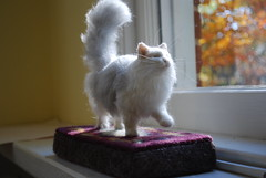 Penelope (A Needle Felted Cat) (rootcrop54) Tags: sculpture art wool animal animals miniature chat penelope ooak felt explore fantasy gato needlefelting fiber  macska gatto kot koka kedi chatte katt kissa kttur maka filz kucing needlefelt catart   needlefelted kat  maek kais mniature gorbe wooliture nassgefilzt needlefeltedcat needlefeltedcats rootcrop54 helenrogers pisic