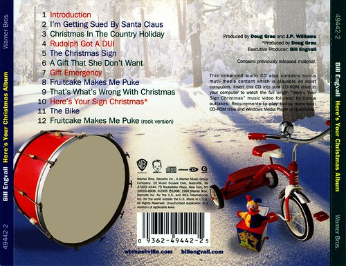 Bill Engvall - Here's Your Christmas Album [rear cover/tray insert dealie] (1999)