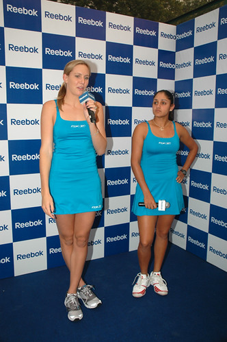 Tennis stars Nicole Vaidisova and Sunita Rao photos
