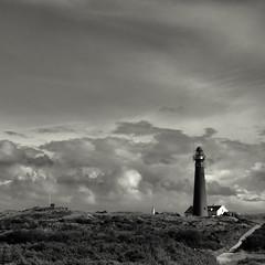 Lighthouse Schiermonnikoog (Jos Mecklenfeld) Tags: sea bw lighthouse square island wadden dunes nederland thenetherlands zee duinen ricoh vuurtoren schiermonnikoog eiland gx200