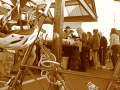 farmers market (teecer) Tags: bike farmersmarket bellingham sepiatone