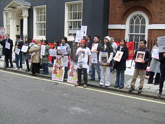 S7301412 (FREE BURMA2008) Tags: london for embassy demonstration jail years leaders 88 receive burmese generation 65 terms