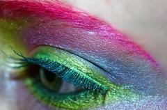 (wisely-chosen) Tags: november selfportrait macro eye me colorful makeup 2008 picnik falseeyelashes manicpanichothotpink coastalscentsultrashimmer88eyeshadowpalette mineralglowneontetra