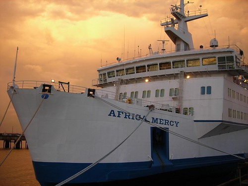 Africa Mercy at Sunset