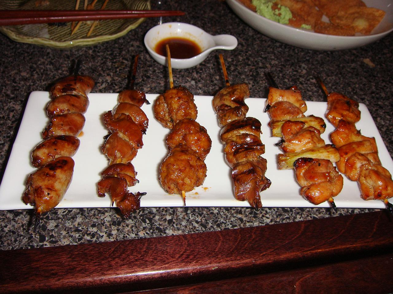 Kushiyaki Chicken Sampler