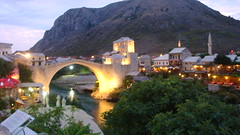 Old Bridge and Town with Neretva River,Mostar (Alexanyan) Tags: old city bridge light river town europa europe district mostar bosnia part most herzegovina historical balkans grad poli stari neretva hercegovina balkan bosna bosnian bosnien 5photosaday palia   bosnja   mostari top20travelpix