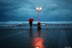 Naces y vives solo (fertraban) Tags: red muro umbrella mar espaldas rojo farola gijón asturias solo invierno soledad sanlorenzo paraguas hombre xixón cantábrico ltytr2 ltytr1 ltytr3 ltytr4 ltytr5 favemegroup5