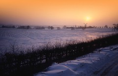 Winter dawn on the A1 near Newark, England (hawkgenes) Tags: nature landscapes snowscenes dawns colorphotoaward flickrlovers vosplusbellesphotos