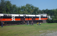 P32AC-DM 228 & 230 (blazer8696) Tags: railroad ny newyork 2004 electric general metro sony north cybershot junction special locomotive genesis popular ge hopewell 230 excursion 228 metronorth mcginnis ndc cdot dscf707 hopewelljunction p32acdm dsc02358 t2004 rte82 rte376
