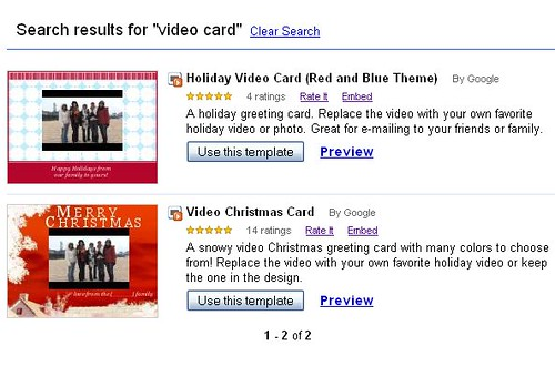 Template for Video Holiday Card