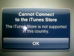 iTunes not available in your country