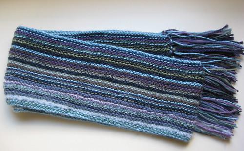 silky sideways scarf