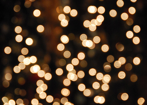 white christmas lights bokeh - Blurred Christmas Lights