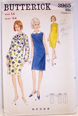 Butterick 3965 Vintage 60's Sewing Pattern QUICK AND EASY Mod Dress (Sassy By Design) Tags: mod 60s flickr dress shift international tucks size14 dressmakingpatterns clothingpattern butterickpatterns bust34 sassybydesign butterick3965 sassybydesigncom fabulousvintagesewingpattern