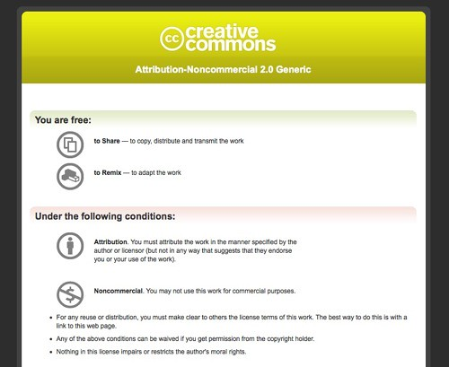 explanations of creative commons licenses