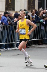 Rock/Creek Race Team Member, Sam Linhoss, at 2010's Boston Marathon