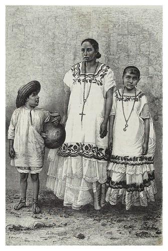 023-Mujeres mestizas y porteador de agua en Merida-Les Anciennes Villes du nouveau monde-1885- Désiré Charnay