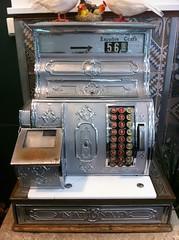 Old Cash Register (Domiriel) Tags: old analog mechanical buttons machine cash till iphone iphoneography registrer