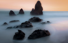 High Tide at Rodeo Beach (Matt Granz Photography) Tags: ocean california desktop sunset wallpaper motion blur beach water photography evening twilight rocks long exposure pacific dusk marin surreal headlands rodeo stacks sfist mattgranz