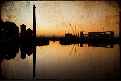 Old And New (BarneyF) Tags: city sunset reflection liverpool dusk albertdock sihlouette merseyside capitalofculture liverpool08 aplusphoto