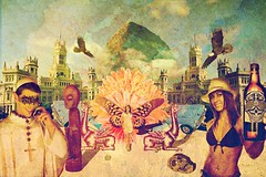Cibeles // Laprisamata // prisa mata // prisamata (laprisamata) Tags: madrid art collage illustration paper poster design spain arte graphic god surrealism toledo luis diseo mata ilustracion cartel grafico prisa mestizaje laprisamata prisamata
