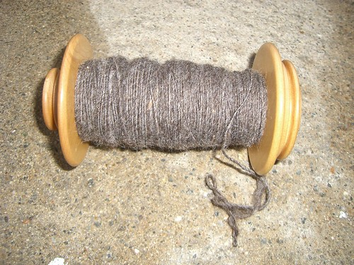 Coopworth Roving Spun into Singles