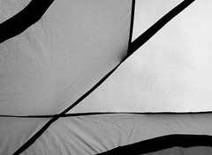 Abstract Tent (OhHappyDay!) Tags: camping blackandwhite white abstract black lines triangles circle triangle tent diagonal
