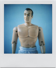 Shomeone Sheems to have Shaved my Shest Hair (tubes.) Tags: film toy polaroid sx70 actionfigure plastic bond seanconnery jamesbond guysyoucanfavoritethisitdoesntmeanyouregay