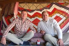 Charles and Fred in the bedouin tent (CharlesFred) Tags: peace middleeast syria bedouins hospitality bedouin siria honour  syrien syrie  suriye  syrianarabrepublic    shoufsyria    bedouinsinsyria syrianbedouins bedouinlifestyle welovesyria aljumhriyyahalarabiyyahassriyyah siri