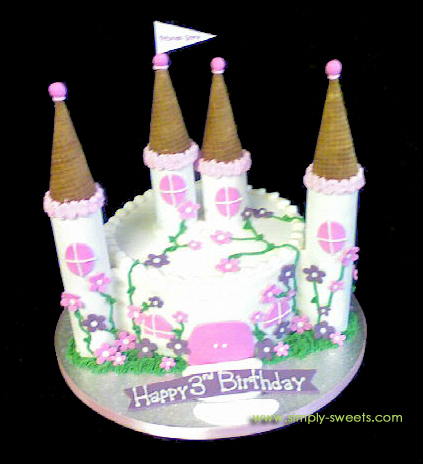 Princess Grace Castle Cake