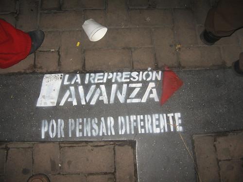 La Represion avanza por pensar diferente