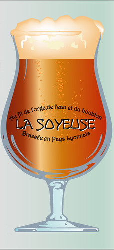 Verre sérigraphié La Soyeuse